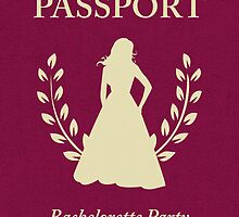 Bachelorette Party Passport Invitation  by maydaze