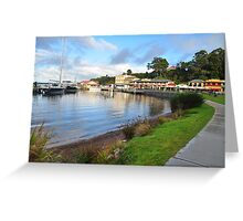 The Town Of Strahan. Greeting Card