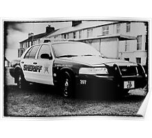 usa sheriff car Poster