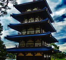 Japan Pavilion Pagoda High Dynamic Range by wishfotografia