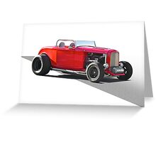1932 Ford 'Little Red' Roadster Greeting Card