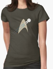 Boldly Go... - blue Womens Fitted T-Shirt