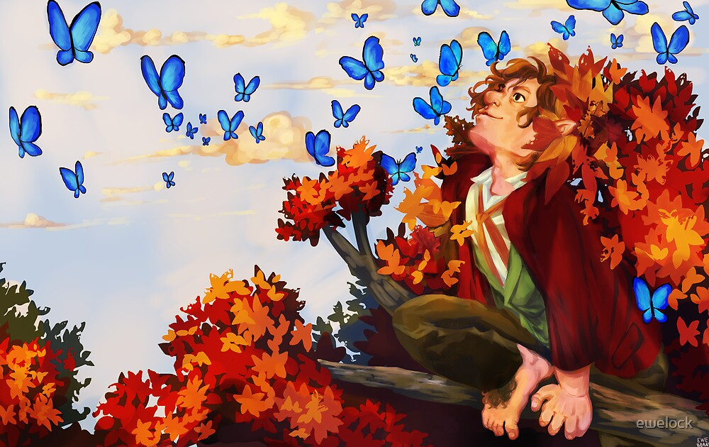 Bilbo and Butterflies by ewelock
