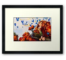 Bilbo and Butterflies Framed Print