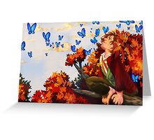 Bilbo and Butterflies Greeting Card