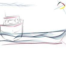 High Tide Fishing Boat Cap Enraged by Danielle Girouard