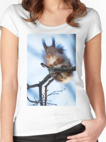 Winter Squirrel Women's Fitted Scoop T-Shirt