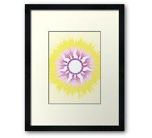 A Tangled Sunburst Framed Print