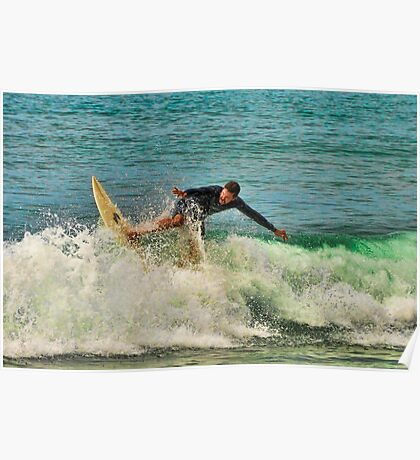 Surfer in HDR Poster
