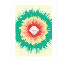 Mermaid Sunburst Art Print