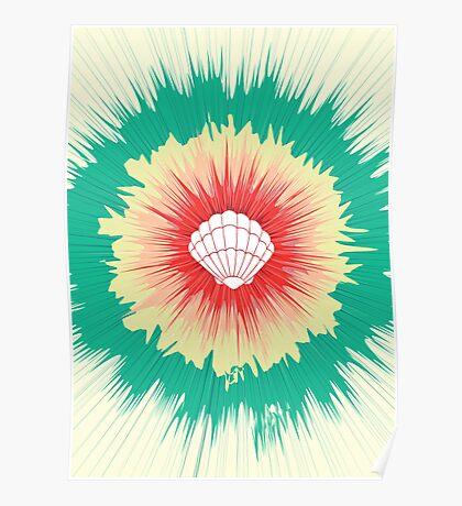 Mermaid Sunburst Poster