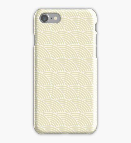 Beige Fish Scale Pattern iPhone Case/Skin