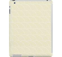 Beige Fish Scale Pattern iPad Case/Skin