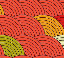 Red Fish Scale Pattern by rusanovska
