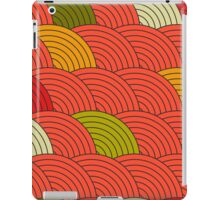 Red Fish Scale Pattern iPad Case/Skin