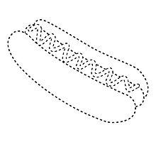 hot dog cutout by maydaze