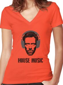 House Music Women's Fitted V-Neck T-Shirt