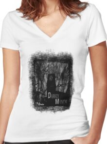 Darkly Manor Women's Fitted V-Neck T-Shirt