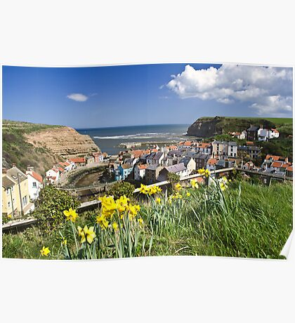 STAITHES IN BLOOM Poster