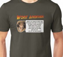 WORST ADVENTURERS - Indy Brody Bluff (english) Unisex T-Shirt