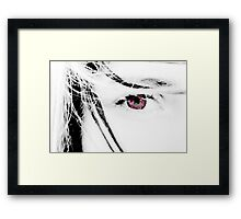 The girl with kaleidoscope eyes Framed Print