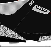 Made in China III Black/Cement Size US 9.5 - Pop Art, Sneaker Art, Minimal by roctobot
