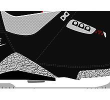Made in China III Black/Cement Size US 9.5 - Pop Art, Sneaker Art, Minimal Photographic Print