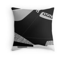 Made in China III Black/Cement Size US 9.5 - Pop Art, Sneaker Art, Minimal Throw Pillow