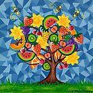 Tutti Fruti Tree by Lisa Frances Judd~QuirkyHappyArt