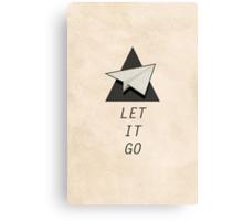 Let It Go Quotes Paper Plane Canvas Print