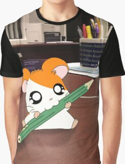Hamtaro on my desk Graphic T-Shirt