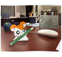 Hamtaro on my desk Poster
