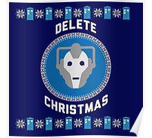 Delete Christmas - Cyberman Poster