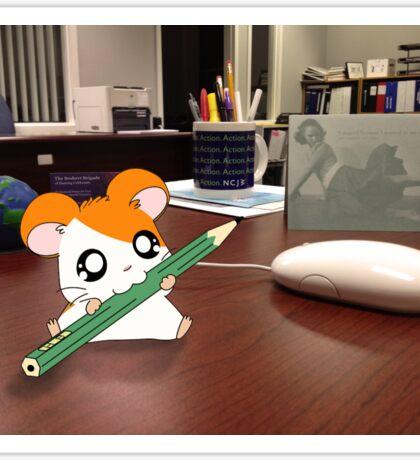 Hamtaro on my desk Sticker