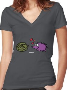 Durian Love Women's Fitted V-Neck T-Shirt