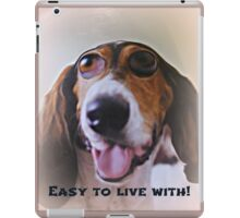easy to live with! iPad Case/Skin