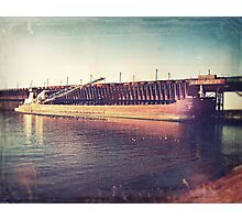 Iron Ore Freighter In Dock Photographic Print