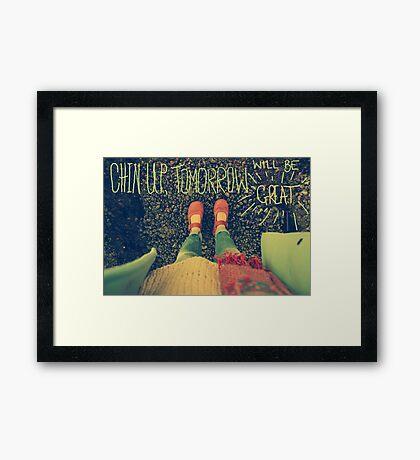 Chin Up Framed Print