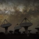 Milky Way Above ASKAP Radiotelescope by Alex Cherney