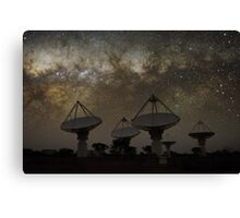 Milky Way Above ASKAP Radiotelescope Canvas Print