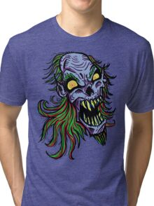 Retro Punky Undead Vampire Tri-blend T-Shirt