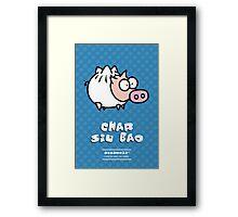 Dim Sum Pig - Char Siu Bao Framed Print