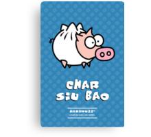 Dim Sum Pig - Char Siu Bao Canvas Print