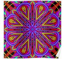 The Fractal Blossom Kaleidoscope Poster