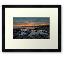 Winter's Sunset. Framed Print