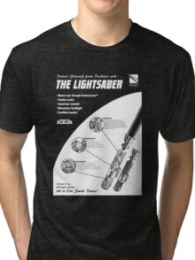 Star Wars Lightsaber Retro Ad Tri-blend T-Shirt