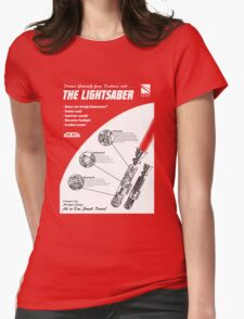 Star Wars Lightsaber Retro Ad Womens Fitted T-Shirt