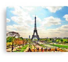 Springtime in Paris, souvenirs from another Age Canvas Print