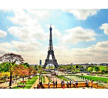 Springtime in Paris, souvenirs from another Age Photographic Print