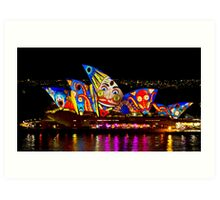 Clown Sails - Sydney Vivid Festival - Sydney Opera House Art Print